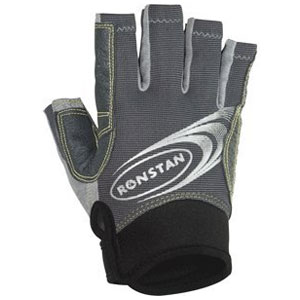 Ronstan Sticky Race Gloves wCut Fingers Grey Large