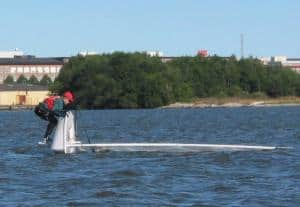 If you capsize your Laser dinghy, don't panic - it's not the end of the world