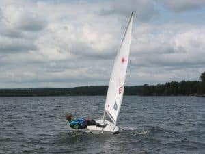 The Laser sailing boat is a popular choice