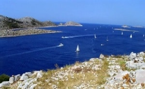 sailing in the Dalmatian coastal region of Croatia