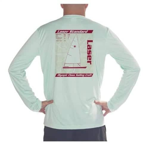 Men's Laser Olympic Class Sailboat UPF Long Sleeve T-Shirt