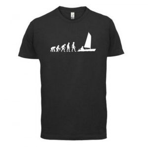 Men's Evolution of Man Sailing T-Shirt