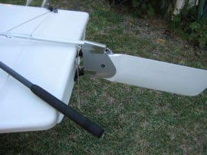 Laser rudder tiller and tiller extension