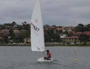 launching your laser dinghy