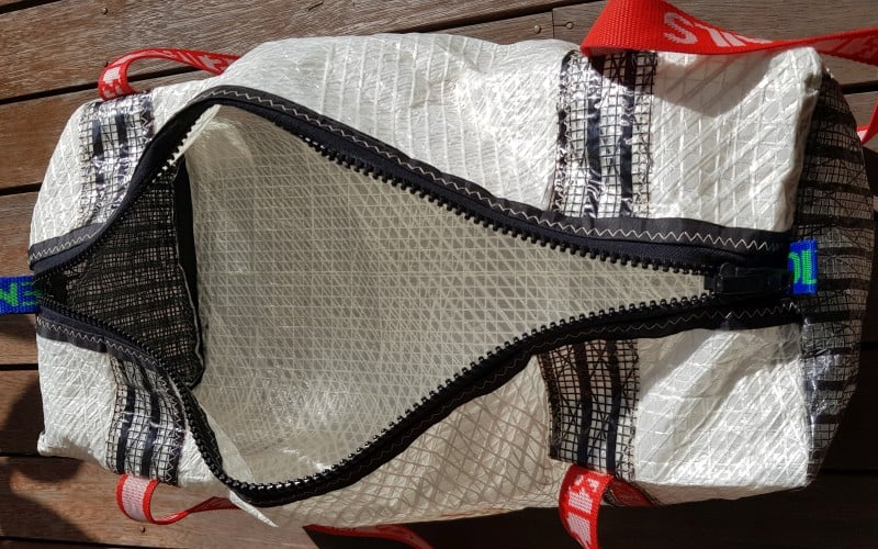 sailcloth duffel bags made from old sails