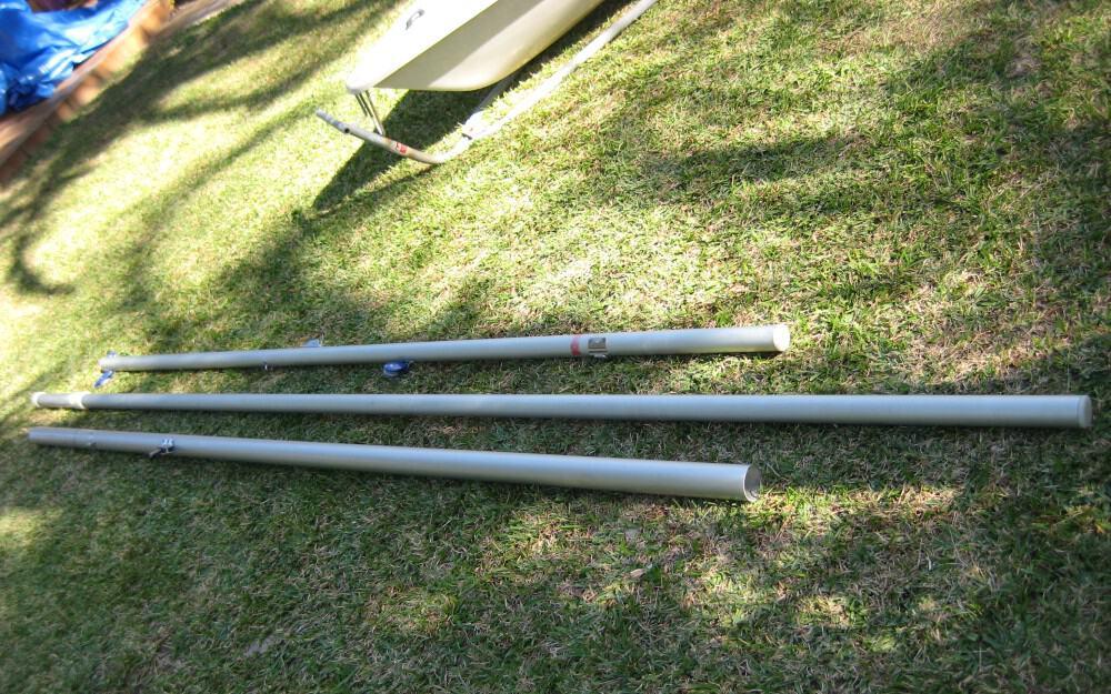 Laser Spars - 2 piece Laser mast and boom